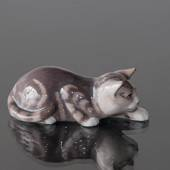 Snigende stribet kat, Royal Copenhagen figur