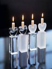 Holmegård lysestager med hjerte