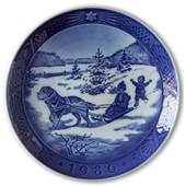 Sven Vestergaard - Christmas Vacation 1986, Royal Copenhagen Christmas plate