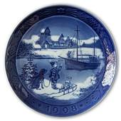 Sven Vestergaard - Welcome committee 1998, Royal Copenhagen Christmas plate