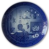 Sven Vestergaard - Christmas days, 2015 Royal Copenhagen Christmas plate