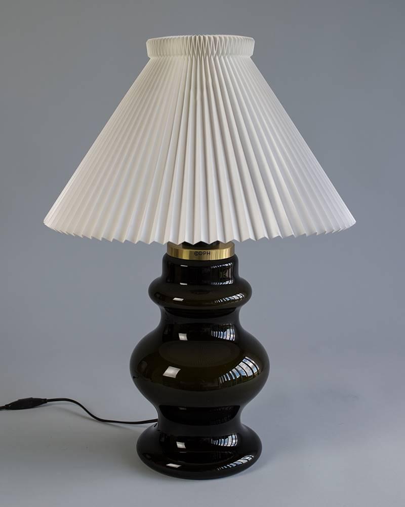 stort rund glas lampe. Black Bedroom Furniture Sets. Home Design Ideas