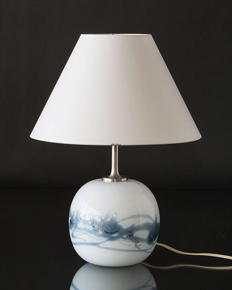 Holmegaard Sakura lampe, blå, rund, lille (uden sk u00e6rm) Udgået af produktion Nr 3623235 DPH