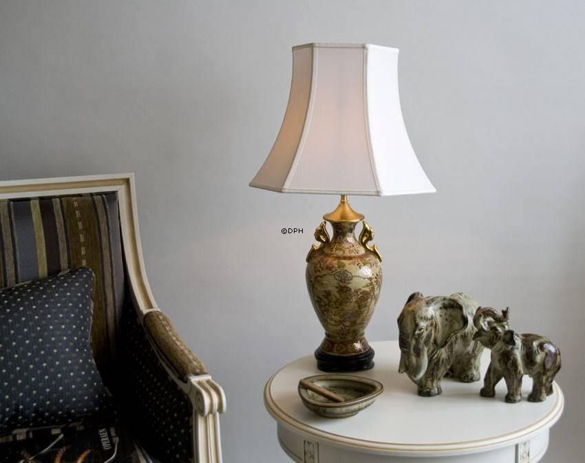 Lampeskærm sekskantede pagodeskærm