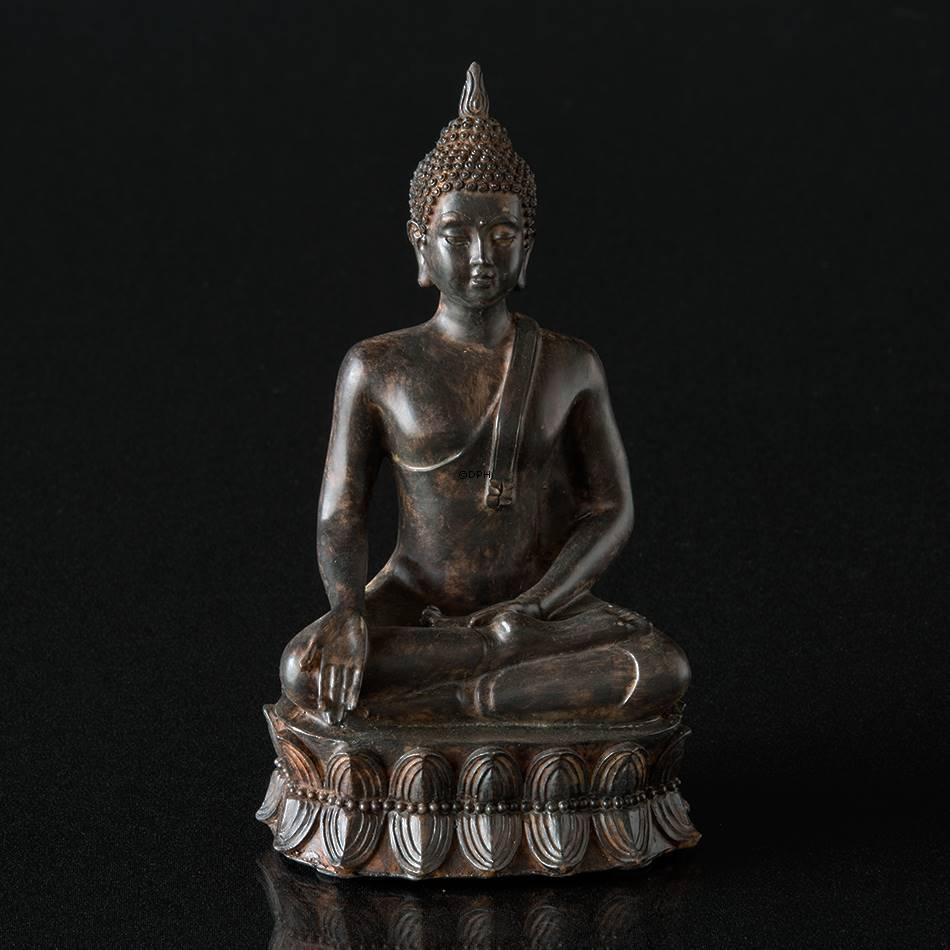 Siddende buddha figur bruneret nr 5654 alt 1143701b for Buddha figur