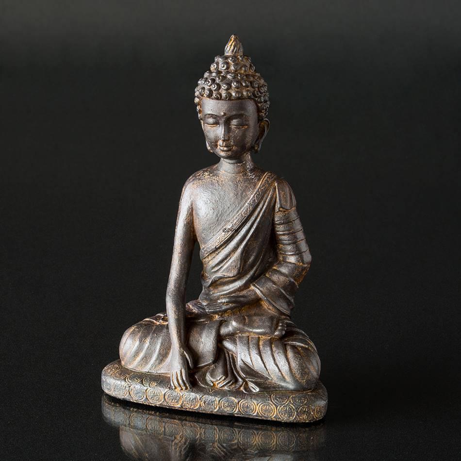 Siddende buddha figur bruneret stor nr 5655 alt for Buddha figur