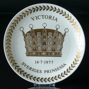 Gustavsberg Sverige kronprinsesse Victorias fødsel med guldbelægning