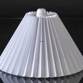 Plissé lampeskærm til læselampe Ø40mm i hvid pvc plast, sidelængde 18cm