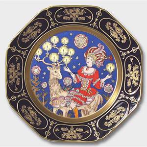 Wall decoration - 1978 Christmas plate Hutschenreuther