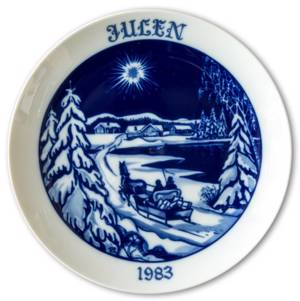 Wall decoration - 1983 Hackefors Christmas plates