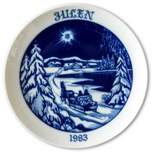Wall decoration - 1983 Hackefors Christmas plates