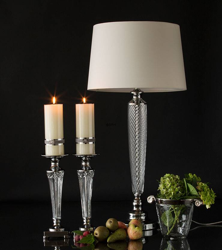 Sølv lysestager til bloklys