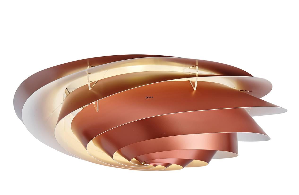 Le Klint Loftlampe - Le Klint 1320M Swirl loftlampe eller v u00e6glampe af plast, kobber, medium Nr lk 1320m k pl Alt