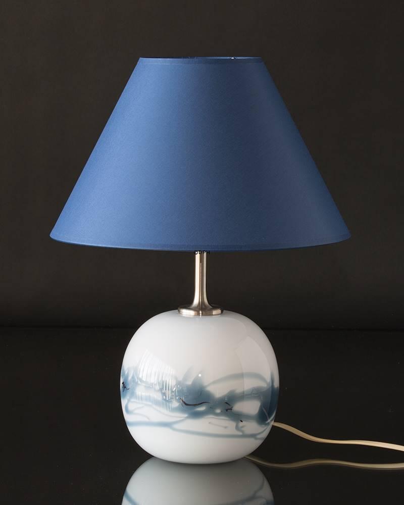 Blue round lampshade