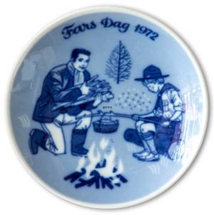 1972 Porsgrund father's day plate