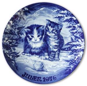 Wall decoration - 1976 Royal Heidelberg Christmas plate, cat