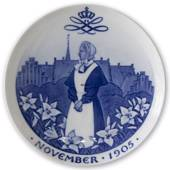 1905 Royal Copenhagen Mindeplatte, NOVEMBER 1905