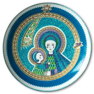 Wall decoration - 1976 Steinbock annual jubilee plate The virgin Mary with baby Jesus