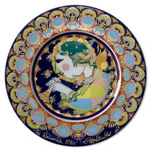 Wall decoration - Bjorn Wiinblad Christmas plate 1976 The Angel with the trumphet
