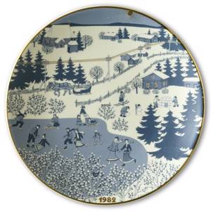 Wall decoration - 1982 Christmas plate Arabia
