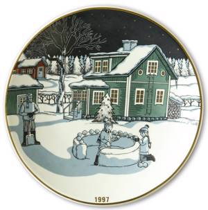 Wall decoration -1997 Christmas plate Arabia