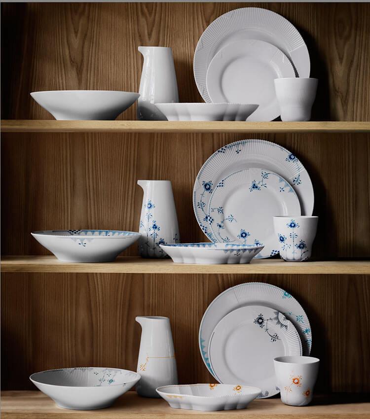 royal copenhagen elements det smukke moderne stel dph trading. Black Bedroom Furniture Sets. Home Design Ideas