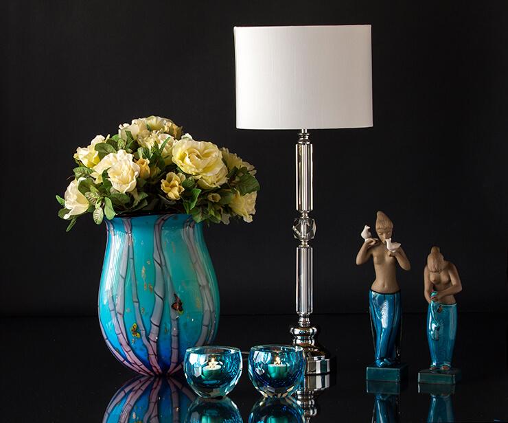 Glaskunst i smukke farver