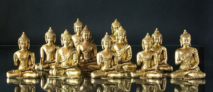 Buddha figurer messing