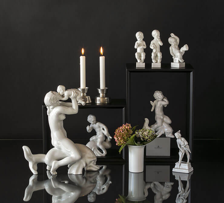 Royal White figurer fra Royal Copenhagen
