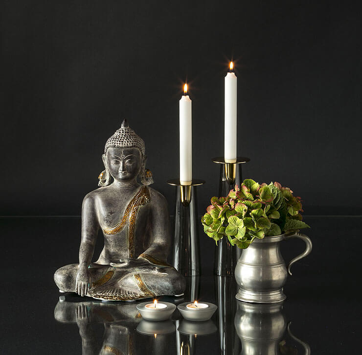 Buddha figur - Antique finish